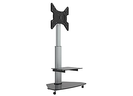 Dynamic-Wave TV Soporte Stand con Ruedas, inclinable, Altura Regulable, hasta 47