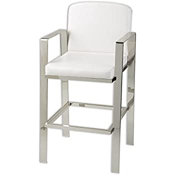 Amazon Com Fashion Bed Group Juneau Bar Stool With Nickel