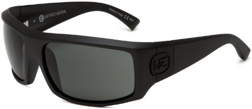 VonZipper Clutch Rectangular Sunglasses,S.I.N. & Black Satin,One ()