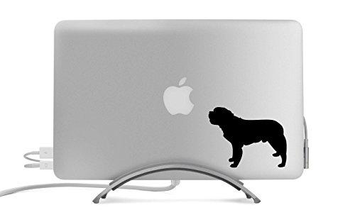 Saint Bernard Dog Silhouette Five Inch Black Decal for Car, Truck, MacBook, Laptop, Etc.