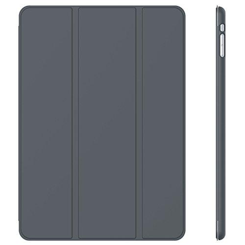JETech® GOLD Slim Fit iPad mini 1/2/3 Hülle Schutzhülle Etui Tasche mit Ständer Funktion und Eingebautem Magnet für Einschlaf/Aufwach für Apple iPad mini, iPad mini 2 mit Retina Display und iPad mini 3 Smart Case Cover (Dunkel Grau)