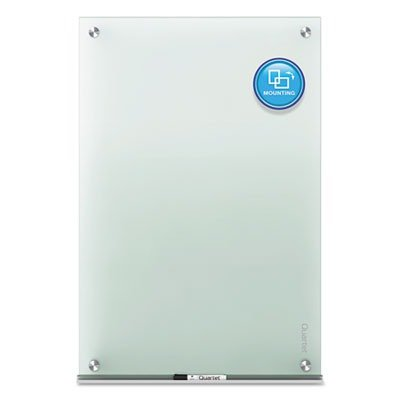 Quartet Glass Dry Erase Board, Whiteboard / White Board, 48'' x 36'', Frosted Surface, Non-Magnetic, Frameless, Infinity (G4836F) by Quartet