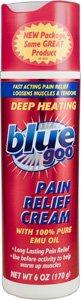 Bleu douleur Goo secours 6 oz Crème