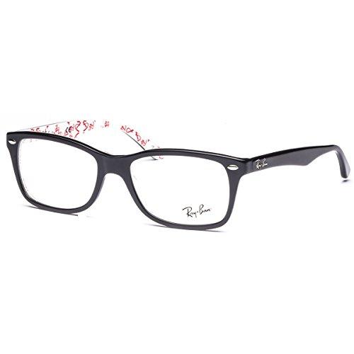 Ray-Ban Womens Rx5228 Square EyeglassesTop Black & Texture White50 mm