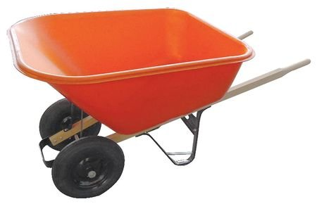 Westward-10G165-Wheelbarrow-Poly-Tray-wDual-Tires