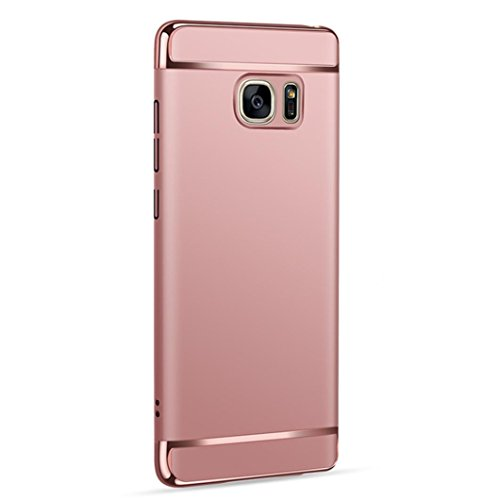 Coohole 2017 New Fashion Thin Electroplate Hard Case Cover for Samsung Galaxy Note 5 (Rose Gold)