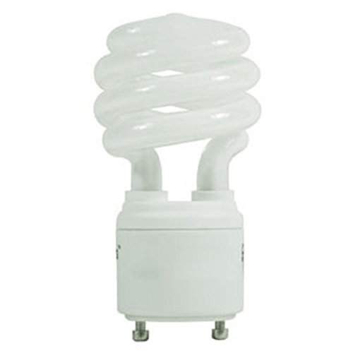 - TCP 33113SP41K CFL Spring Lamp - 60 Watt Equivalent (Only 13w used!) Cool White (4100K) General Purpose Spiral Light Bulb - GU24 Base