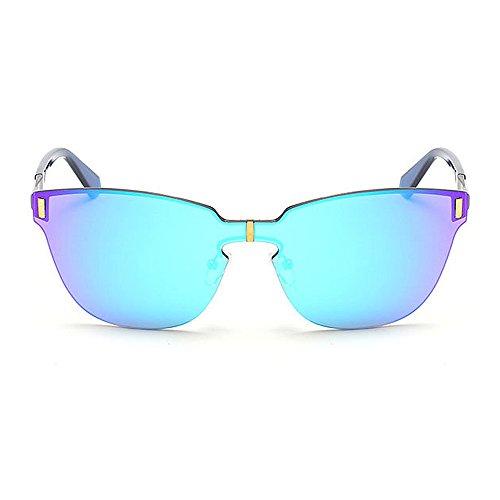 UV air Piece Vintage en Style Voyage Plein Yeux Les de Gris Lunettes Cat Soleil Couleur pour de Protection Gu Bleu Femmes One Peggy qTS0tF