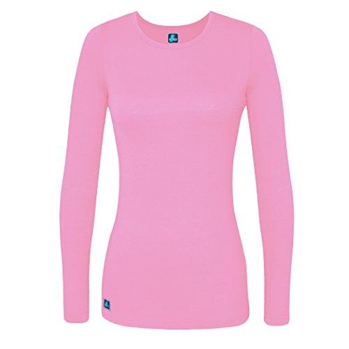 Adar Womens Comfort Long Sleeve T-Shirt Underscrub Tee - 2900 - Sherbet - 2X