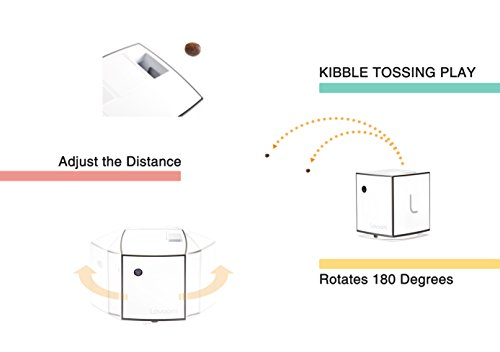 LOVOOM Pet Camera: Kibble Tossing Play, Wi-Fi Kibble Cam with Pan Zoom Two Way Audio Remote Control for Dogs and Cats (Black) by LOVOOM (Image #2)