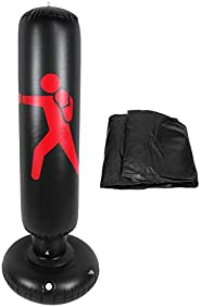Inflatable Punching Bag 160cm Height Inflatable Boxing Bag Free Standing Heavy Training Bag for Adults Childre