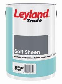 Sheen Emulsion Soft (5LTR - LEYLAND TRADE VINYL SOFT SHEEN EMULSION MAGNOLIA by Leyland)