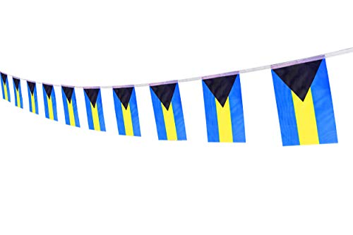 Kind Girl Bahamas Flag Bahamian Flag,100Feet/76Pcs National Country World Pennant Flags Banner,Party Decorations Supplies for Olympics,Bar,Indoor and Outdoor Flags,Intarnational Festival