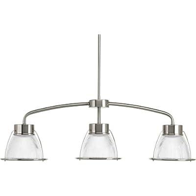 """Progress Lighting P4715-LED Prismatic Glass 10"""" Wide 3 Light Linear LED Energy S,"""