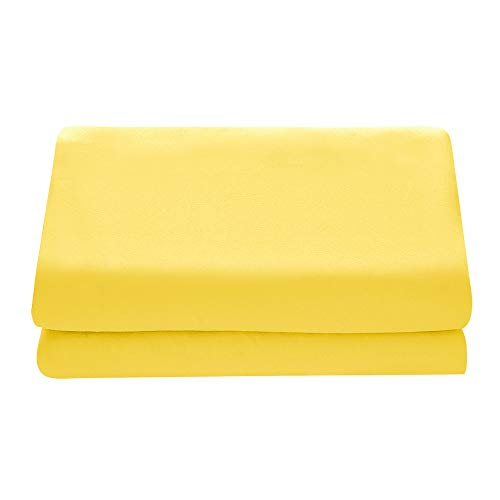 Comfy Basics 1-Piece Ultra Soft Flat Sheet - Elegant, Breathable, Yellow, - Sheet Queen Flat Yellow
