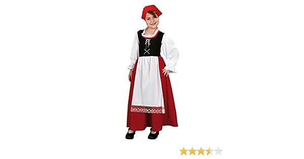 Disfraz de Pastora Aldeana en varias tallas para niña: Amazon.es ...
