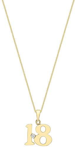 Carissima Gold Cadena con colgante de mujer con oro de 9 K (375/1000), diamante