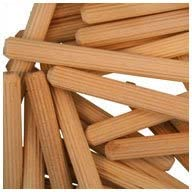 Multi-Groove WIDGETCO 1//4 x 1-1//2 Wood Dowel Pins