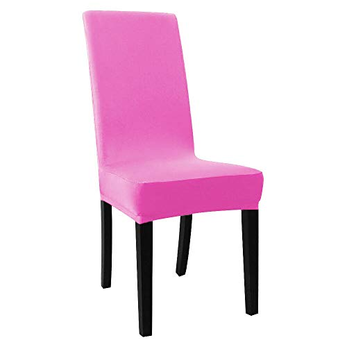 6PCS Pink Removable Stretch Spandex Chair Cover Dining Room Seat Protector Wedding Banquet Tkmei from Unknown