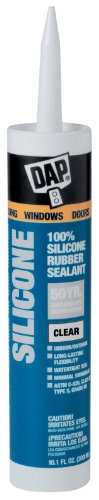 Waterproof Silicone Sealant - 9.8-Ounce Cartridge (2, Clear)