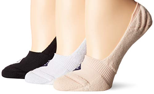 Sperry Top-Sider Women's 3 Pack Microfiber Cushion No Show Liner Socks, black assorted, Shoe Size: 5-10 (Best No Show Socks For Sperrys)