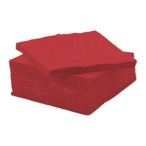 Large Product Image of Ikea's FANTASTISK Red Beverage Napkins - Pack of 100