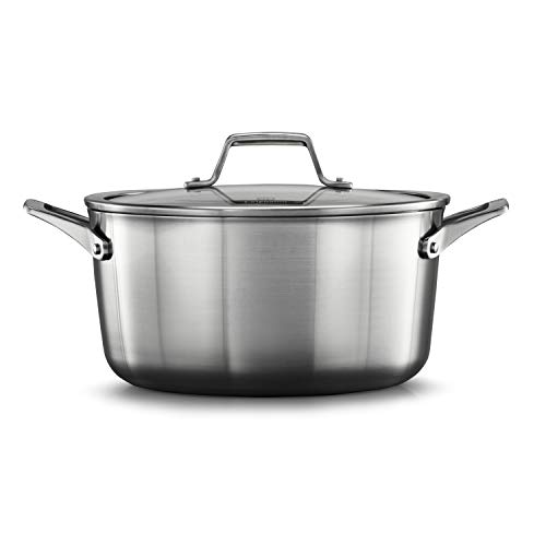 Calphalon 2029660 Premier Stainless Steel 6-Quart Stock Pot with Cover, Silver ()