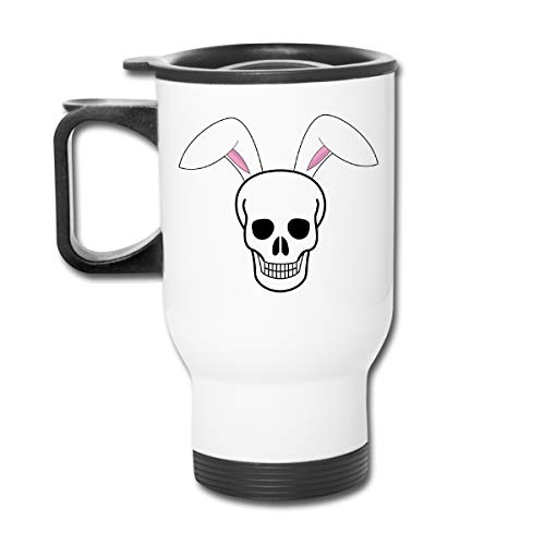 Negi Skull with Bunny Ear 13.5oz Car Cup Stainless Steel Insulated Vacuum Travel for Best Gift