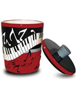 PIANO Keys MUSICAL Note BATH Q Tip CONTAINER Holder NEW