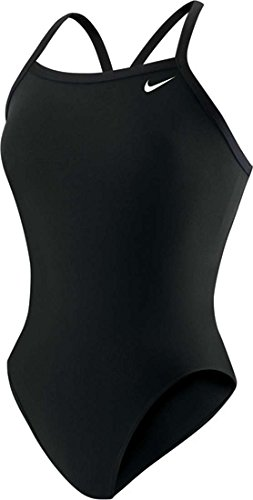 Nike Women's Solid Poly Lingerie Tank One Piece Black 36