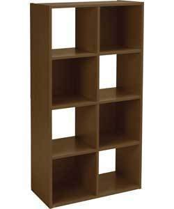 Charmant Argos Walnut Effect Square 8 Cube Shelves/Storage Unit