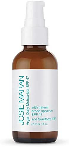 Josie Maran Argan Daily Moisturizer SPF 47 and Sunboost ATB - Lightweight, Quick-Absorbing Sunscreen Nourishes and Moisturizes Skin (60ml/2.0oz)