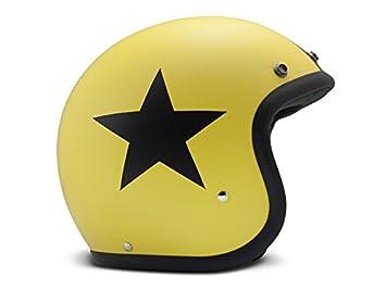 DMD Casco Moto Vintage Star, Amarillo, talla XS