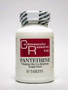 Pantethine 60 Tabs (Ecological Formulas - Pantethine 165 mg 60 tabs by Ecological Formulas)