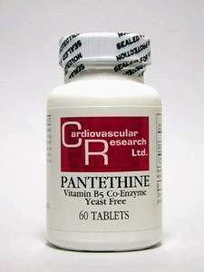 Pantethine 60 Tabs (Ecological Formulas - Pantethine 165 mg 60 tabs by Ecological Formulas)