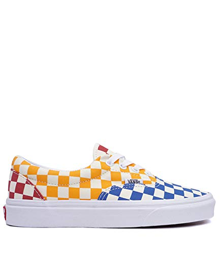 Amazon.com | VANS Checkerboard Era Multi & True White Shoes, Black ...