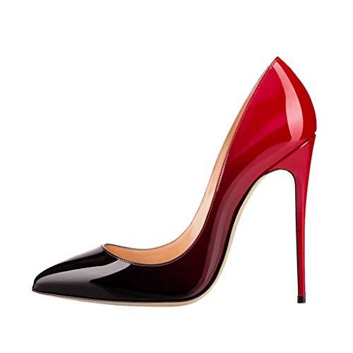 La Stiletto Pointues A 12Cm Soirée Banquet Cuir Couleur Pompes Robe Assorties Pour De Brillant De Mode Femmes De Chaussures Talon Hauteur qBvR8tRwC