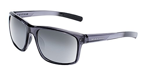 Electric Silver Sunglasses - Native Eyewear Wells Sunglass, Dark Crystal Gray, Silver Reflex