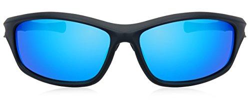 sol para Gafas Mirrored hombre blue de Black Matte JAVIOL qwRUw