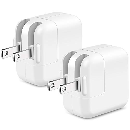 USB Wall Charger, 2-Pack 2.4A/12W USB Power Adapter Charger Plug Compatible with iPhone X 8/7/6 Plus SE/5S, iPad, iPod, Samsung, Android Phone -White