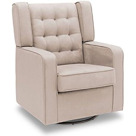 Delta Furniture Paris Upholstered Glider Swivel Rocker Chair Ecru