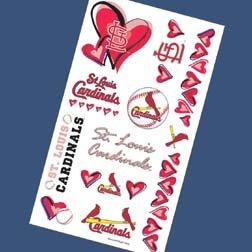 - Cardinals Temporary Tattoos I Love You