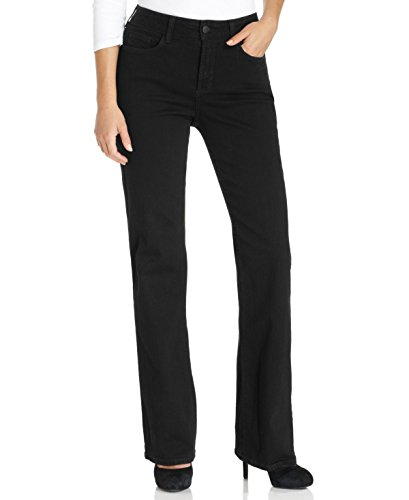 NYDJ Women's Barbara Bootcut Jeans, Black, 0 Short