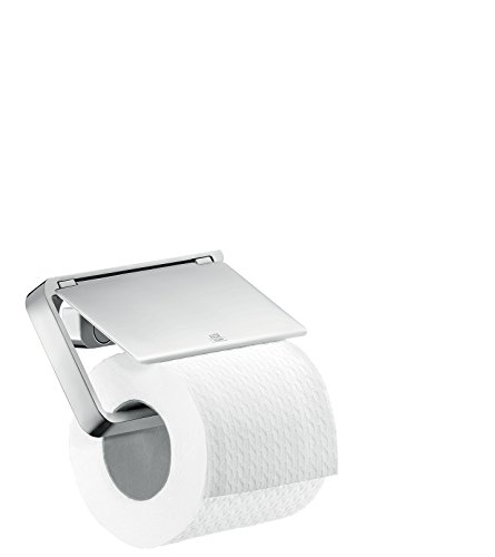 AXOR 42836 Universal Toilet Paper Holder for Wall/Rail Installation - Engineered, Chrome