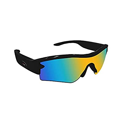 Aliyoyo NEW SMART GLASSES Wireless Bluetooth 4.0 Stereo Polarized Glasses Hand-free Phone Answer/Call Music Function All Outdoor Activities (Black)