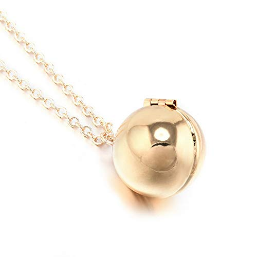 Mikash New Hidden Secret Message Ball Locket Necklace Chain Love Promise Charm Jewelry | Model NCKLCS - 40253 | -