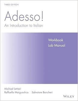 Adesso!, Workbook/Lab: An Introduction to Italian 3rd edition by Danesi, Marcel, Lettieri, Michael, Maiguashca, Raffaella, Ba (2005)