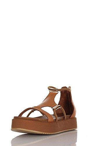 INUOVO zapatos de mujer 7378 sandalias de la plataforma del cuero Coconut