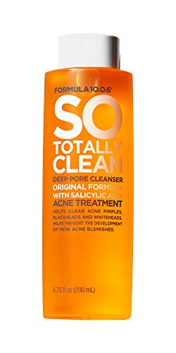 Formula 10.0.6 So Totally Clean Deep Pore Cleanser (6.75 Fl. Oz.) Salicylic Acid Face Toner - Removes Impurities to Clear Pores & Reduce Breakouts - Vegan, Paraben-Free, Sulfate-Free & Cruelty-Free