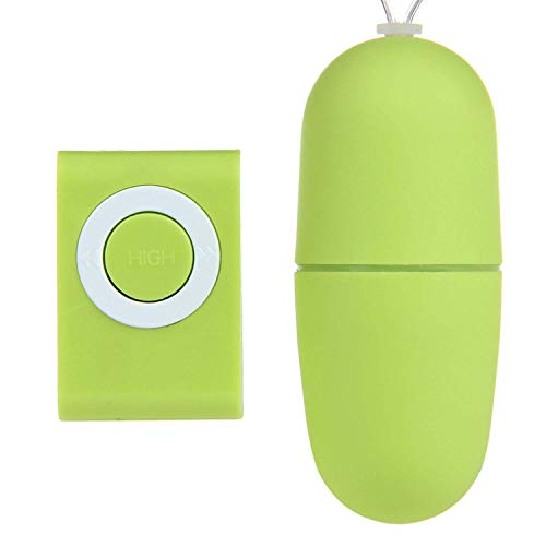 Price comparison product image Toy Brand Remote Control Vibrator 20 Vibration Modes Exercise Ball Wireless MP3 Remote Plug Toy for Women Tshirt, Green